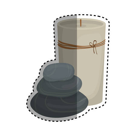 beauty therapist: decorative candle spa icon vector illustration graphic design