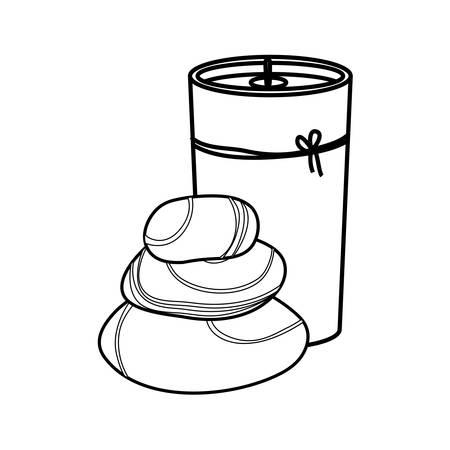 decorative candle spa icon vector illustration graphic design