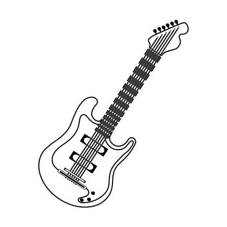 acordeon: Electric guitar music instrument icon vector illustration graphic design