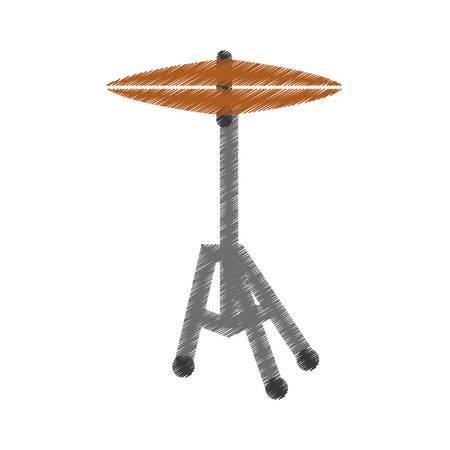 drum plates music instrument icon vector illustration graphic design