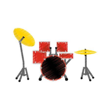 Drummer music instrument icon vector illustration graphic design