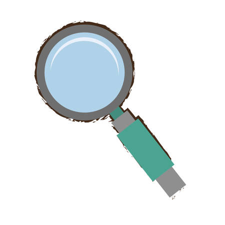 search technology tool optimization green handle sketch vector illustration eps 10