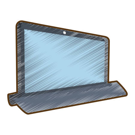 electronic gadget: drawing laptop technology electronic gadget vector illustration eps 10