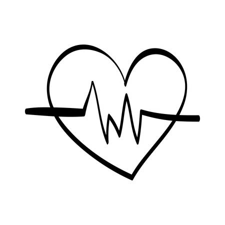 cardiograph: Medical cardiology heartbeat icon vector illustration graphic design