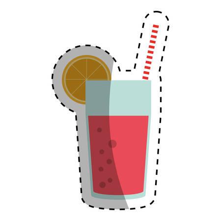 Delicious orange juice icon vector illustration graphic design Illustration