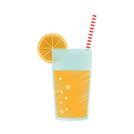 Delicious orange juice icon vector illustration graphic design Illustration