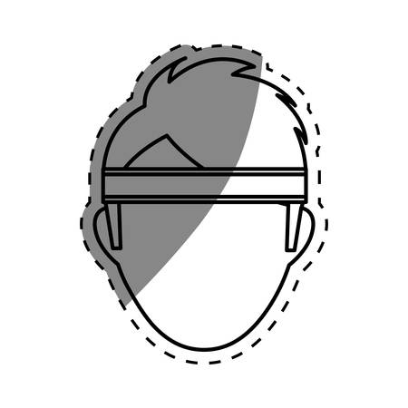 headband: Man with sport headband icon vector illustration graphic design