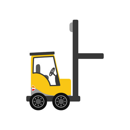 forklift delivery cargo icon vector illustration graphic design Illustration