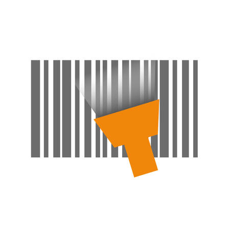Bar code symbol icon vector illustration graphic design Vectores