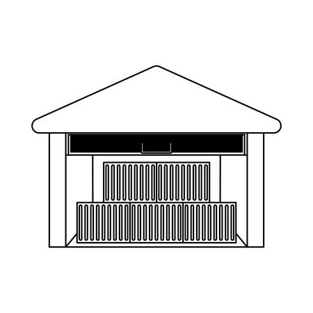 storehouse: Storehouse delivery building icon vector illustration graphic design