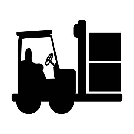 forklift delivery cargo icon vector illustration graphic design  イラスト・ベクター素材