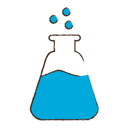 chemistry flask icon image vector illustration design