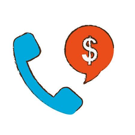 phone money: phone money sign icon image vector illustration design
