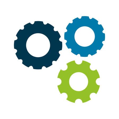 mechanism of progress: gears wheels over white background. vector illustration