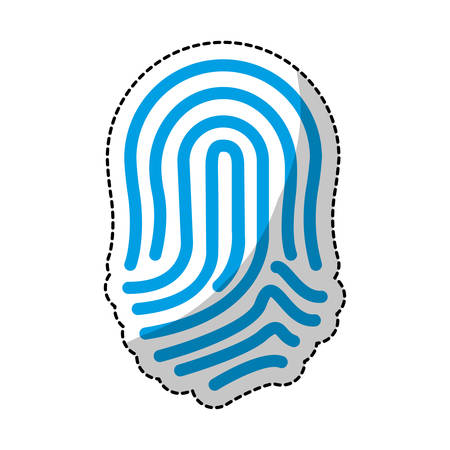 fingerprint blue icon image vector illustration design Illustration