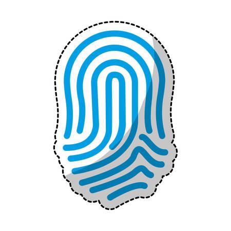 fingermark: fingerprint blue icon image vector illustration design Illustration