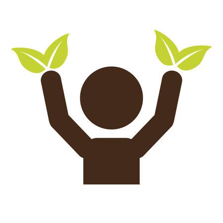 eco friendly icon: eco friendly icon image vector illustration design Illustration