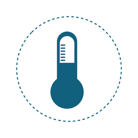 balanza de laboratorio: thermometer instrument icon over white background. vector illustration Vectores