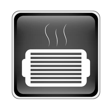 grille: ventilation grill icon inside black square over white background. vector illustration