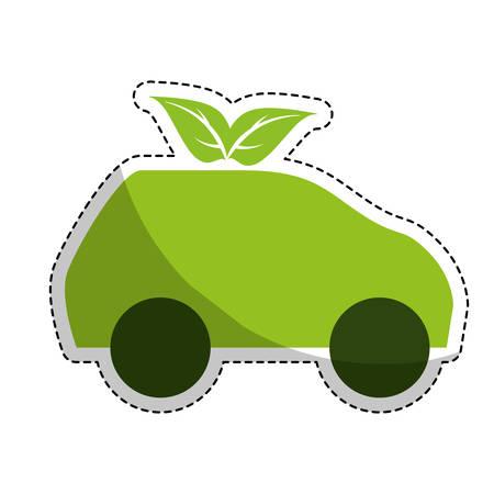 eco friendly car icon image vector illustration design Illustration
