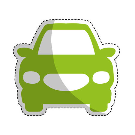 frontview: car frontview icon image vector illustration design