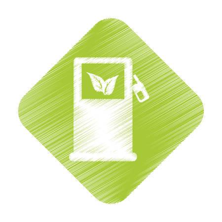 eco friendly icon: gas pump eco friendly icon image vector illustration design Illustration