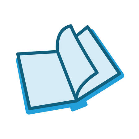 opened book: opened book icon over white background. vector illustration Illustration