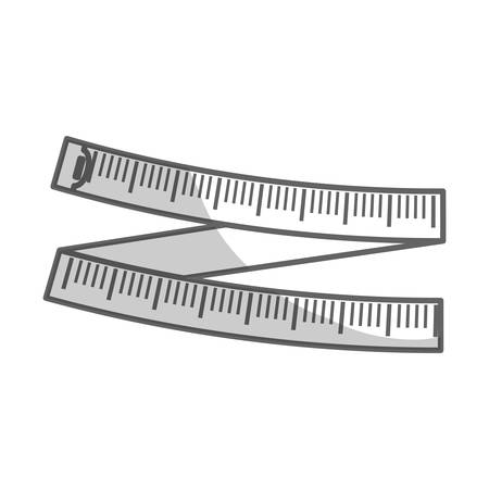 tape measure icon over white background. fitness lifestyle design. vector illustration