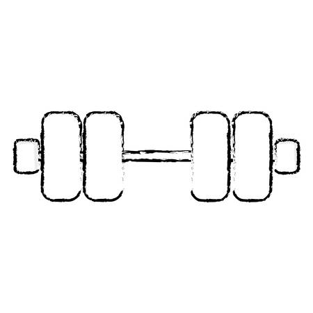 over weight: weight dumbbells gym equipment over white background. fitness lifystyle design. vector illustration