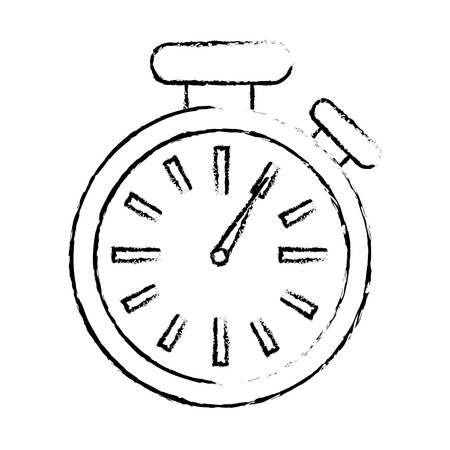 watch movement: chronometer time device icon over white background. vector illustration