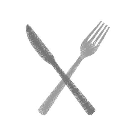 cutlery fork and knife icon image vector illustration design
