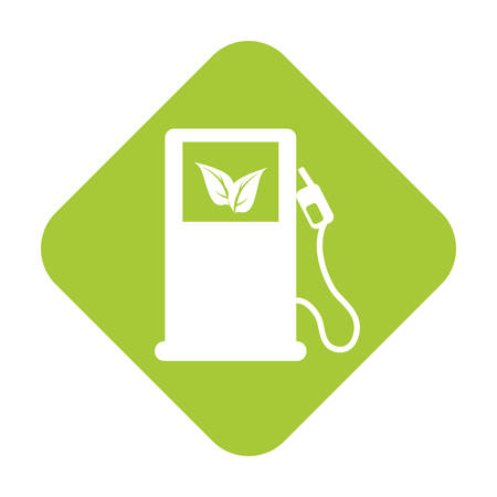 eco friendly gas pump icon image vector illustration design