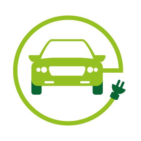 progettazione amichevole dell'illustrazione di vettore di immagine dell'icona dell'automobile di eco