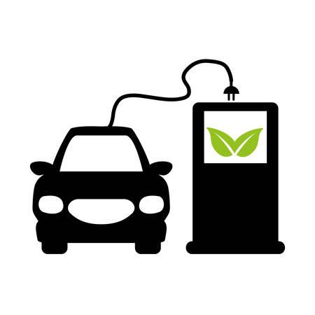 zero emission: eco friendly car icon image vector illustration design Illustration