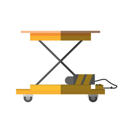 weight machine: lifting table warehouse delivery shadow vector illustration eps 10 Illustration