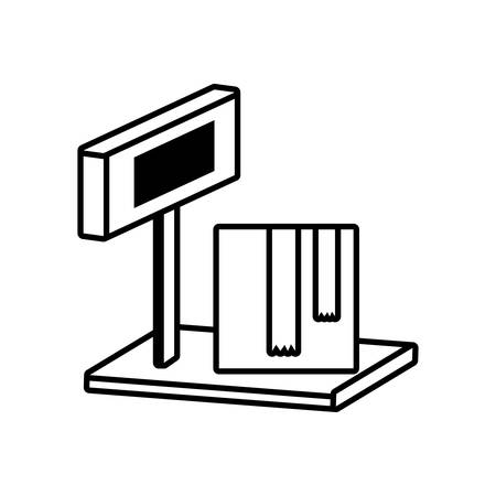 scale box equipment delivery cargo outline vector illustration eps 10 Vektoros illusztráció