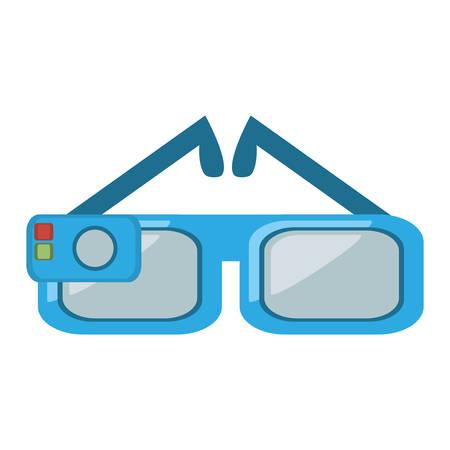 augmentation: smart glasses wearable device vector illustration eps 10 Illustration
