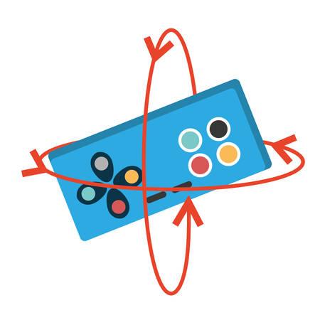xbox: vr controller game 3d 360 degree vector illustration eps 10 Illustration