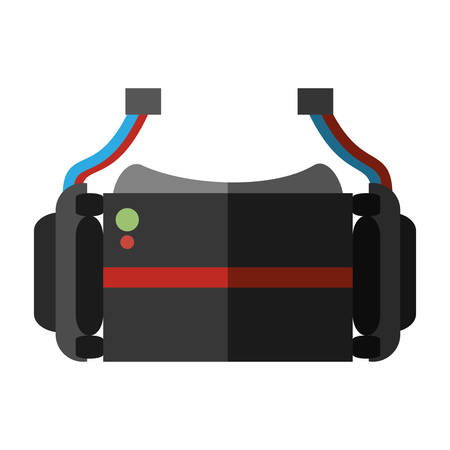 virtual reality glasses wearable device shadow vector illustration eps 10 Illustration