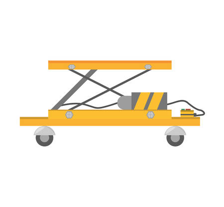 lifting table warehouse delivery vector illustration eps 10 Illustration