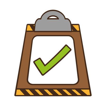 cartoon clipboard check list delivery vector illustration eps 10