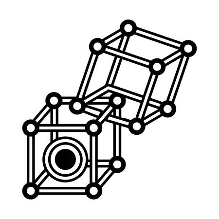 users video: vr circular camera 3d panorama outline vector illustration eps 10 Illustration