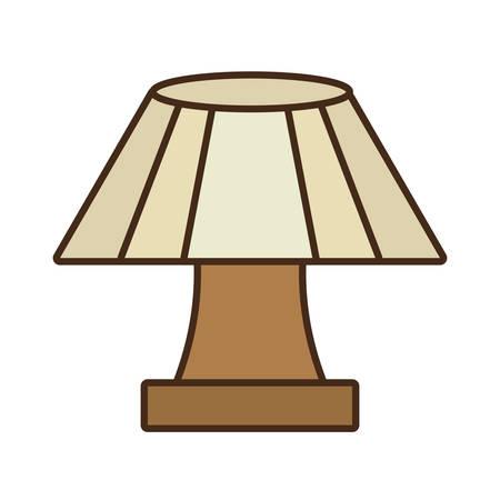 Lampe de table maison appareil vecteur décoratif illustration eps 10