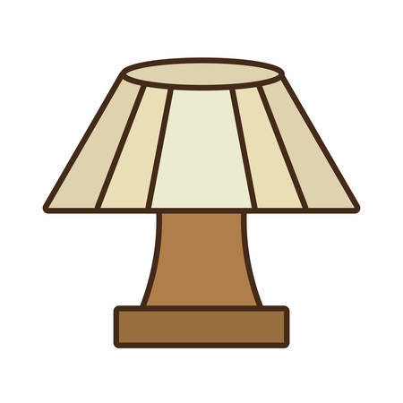 lampshade: table lamp house appliance decorative vector illustration eps 10