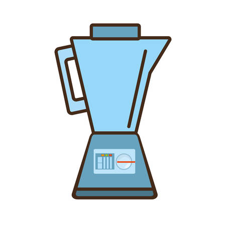 cartoon blender kitchen appliance vector illustration eps 10