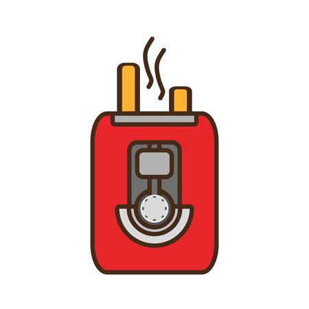 cartoon toaster bread appliance vector illustration eps 10