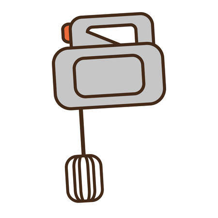 cartoon electric mixer cooking kitchen appliance vector illustration eps 10