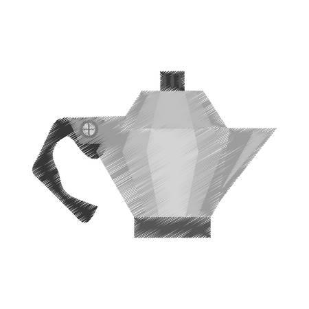 Kettle Coffee Tea Cookware Outline Vector Illustration Eps 10 ...