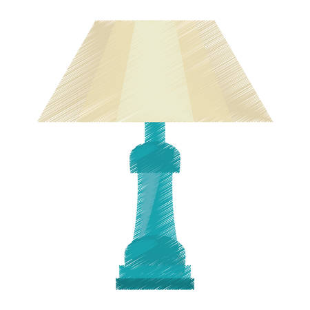 drawing table lamp house appliance decorative vector illustration eps 10