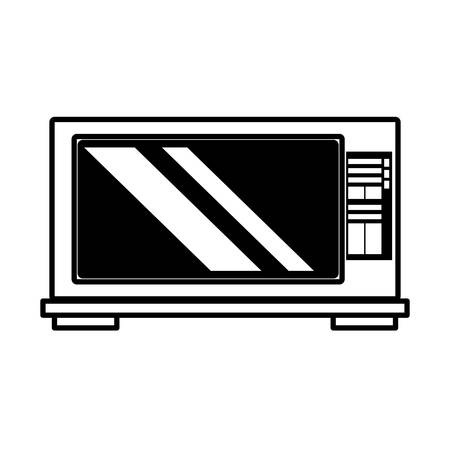 iron fan: microwave domestic appliance outline vector illustration eps 10 Illustration